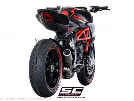 CR-T Exhaust by SC-Project MV Agusta / Brutale 800 Dragster / 2014