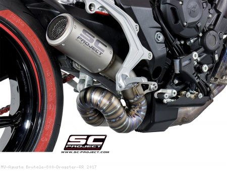CR-T Exhaust by SC-Project MV Agusta / Brutale 800 Dragster RR / 2017
