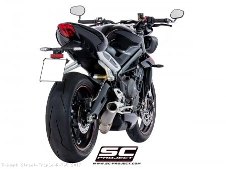 CR-T Exhaust by SC-Project Triumph / Street Triple R 765 / 2017