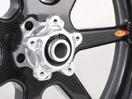 7 Spoke Carbon Fiber Rear Wheel By BST