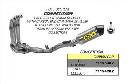 "Competition Race Tech ""EVO"" Full System Exhaust by Arrow"
