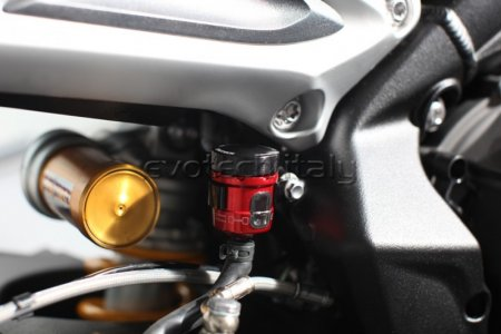 Rear Brake Fluid Tank Kit with Bracket by Evotech Italy