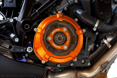 Clear Clutch Cover and Inner Pressure Ring by Evotech Italy KTM / 1290 Super Duke R / 2013