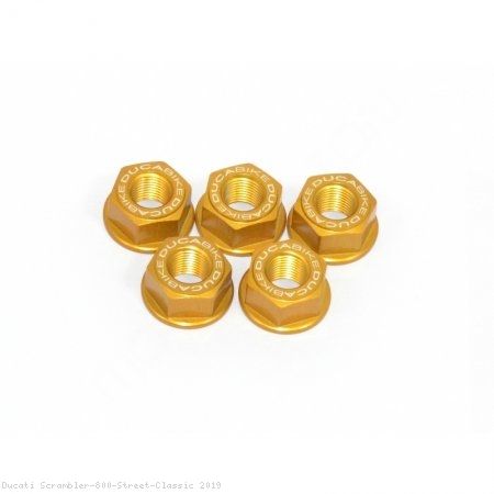 5 Piece Rear Sprocket Carrier Flange Nut Set by Ducabike Ducati / Scrambler 800 Street Classic / 2019