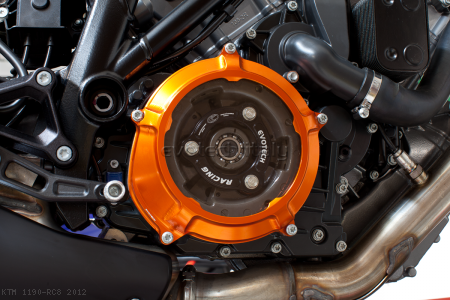 Clear Clutch Cover and Inner Pressure Ring by Evotech Italy KTM / 1190 RC8 / 2012