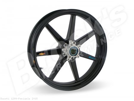 7 Spoke Carbon Fiber Wheel Set by BST Ducati / 1299 Panigale / 2015