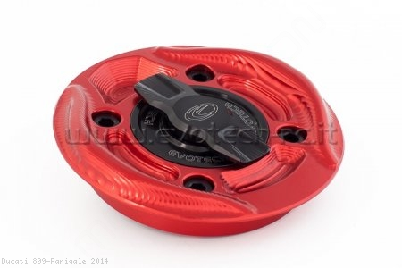Rapid Release Billet Aluminum Gas Cap by Evotech Italy Ducati / 899 Panigale / 2014