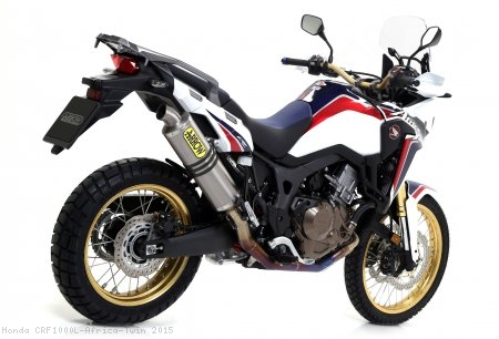 Titanium Racing Full System Exhaust by Arrow Honda / CRF1000L Africa Twin / 2015
