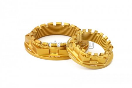 Rear Wheel Sprocket Carrier and Axle Nut Set by Evotech Italy