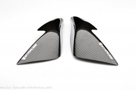 Carbon Fiber Street Version Tank Slider Kit by Strauss Carbon Aprilia / Tuono V4 1100 Factory / 2017