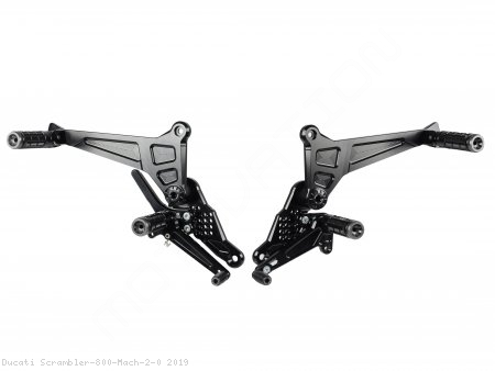 Adjustable Rearsets by Bonamici Ducati / Scrambler 800 Mach 2.0 / 2019
