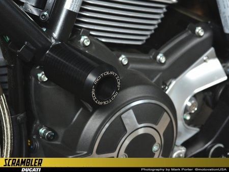 Frame Sliders by Motovation Accessories Ducati / Scrambler 800 Cafe Racer / 2018