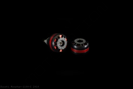 'DRILL' Style Bar Ends by AEM Factory Ducati / Monster 1100 S / 2010