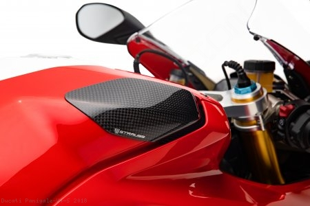 Carbon Fiber Street Version Tank Slider Kit by Strauss Carbon Ducati / Panigale V4 S / 2018