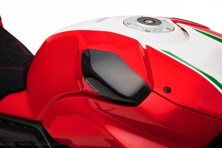 Carbon Fiber Street Version Tank Slider Kit by Strauss Carbon Ducati / Panigale V4 R / 2020