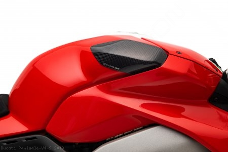 Carbon Fiber Street Version Tank Slider Kit by Strauss Carbon Ducati / Panigale V4 S / 2019