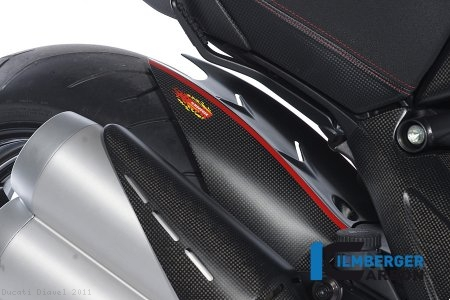 Carbon Fiber Rear Hugger by Ilmberger Carbon Ducati / Diavel / 2011