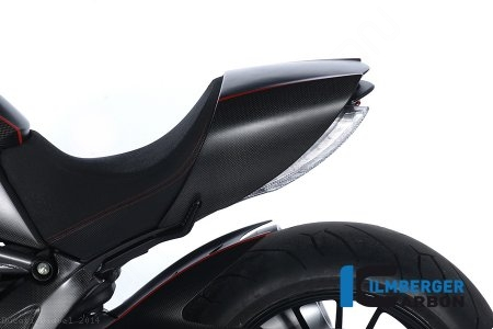 Carbon Fiber Passenger Seat Cover by Ilmberger Carbon Ducati / Diavel / 2014