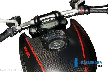 Carbon Fiber Instrument Gauge Cover by Ilmberger Carbon Ducati / Diavel / 2014