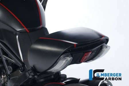 Carbon Fiber Passenger Seat Cover by Ilmberger Carbon Ducati / Diavel / 2013