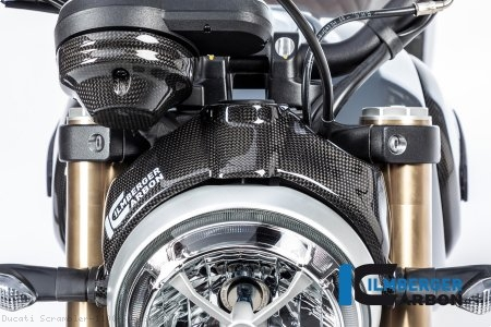 Carbon Fiber Headlight Surround by Ilmberger Carbon Ducati / Scrambler 1100 Special / 2018