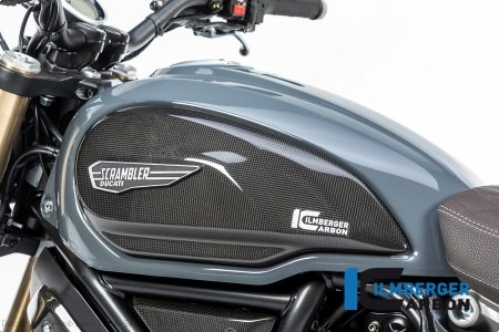 Carbon Fiber Tank Side Panel by Ilmberger Carbon Ducati / Scrambler 1100 Sport / 2018