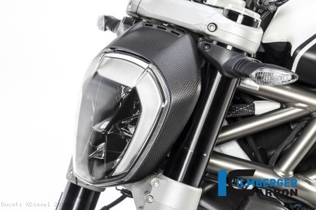 Carbon Fiber Headlight Outer Ring by Ilmberger Carbon Ducati / XDiavel / 2016