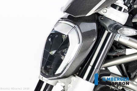 Carbon Fiber Headlight Outer Ring by Ilmberger Carbon Ducati / XDiavel / 2018