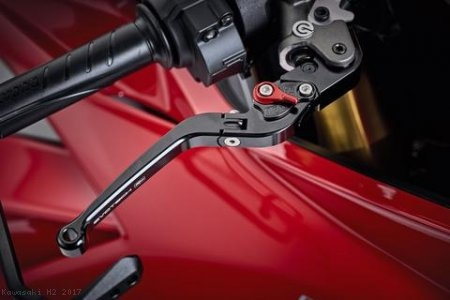 Standard Length Folding Brake and Clutch Lever Set by Evotech Kawasaki / H2 / 2017