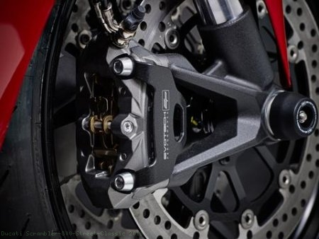 Front Brake Caliper Guard Set by Evotech Performance Ducati / Scrambler 800 Street Classic / 2019