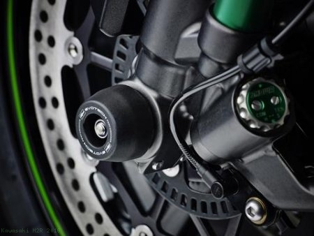 Front Fork Axle Sliders by Evotech Performance Kawasaki / H2R / 2016