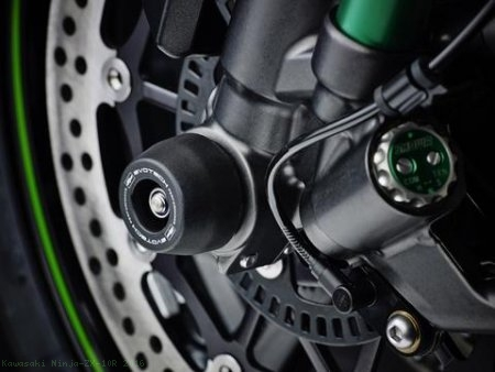 Front Fork Axle Sliders by Evotech Performance Kawasaki / Ninja ZX-10R / 2016