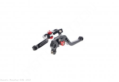 Shorty Brake And Clutch Lever Set by Evotech Ducati / Monster 696 / 2013