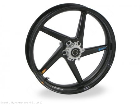 5 Spoke Carbon Fiber Wheel Set by BST Ducati / Hypermotard 821 / 2013
