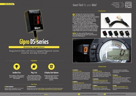GIPro DS Gear Indicator by Healtech Ducati / Scrambler 800 Cafe Racer / 2017