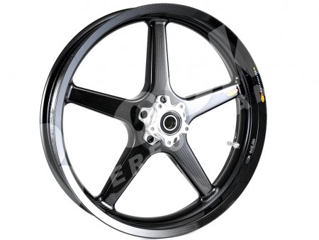 5 Spoke Carbon Fiber 3.5 x 18 Front Wheel by BST