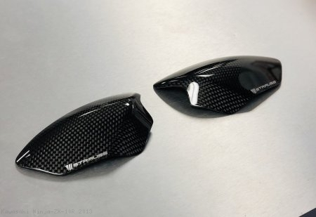 Carbon Fiber Street Version Tank Slider Kit by Strauss Carbon Kawasaki / Ninja ZX-10R / 2013