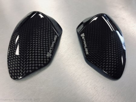 Carbon Fiber Tank Slider Kit by Strauss Carbon Kawasaki / Ninja ZX-10R / 2015