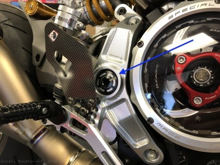 Rearset Frame Plug Kit by Ducabike Ducati / Monster 696 / 2012