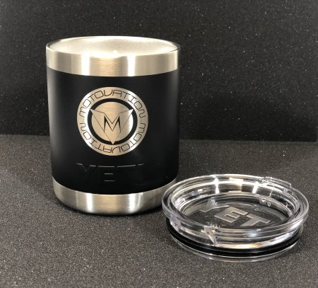 "Limited Edition Custom ""ROUND LOGO SERIES"" Yeti Rambler Lowball Cup by Motovation Accessories"