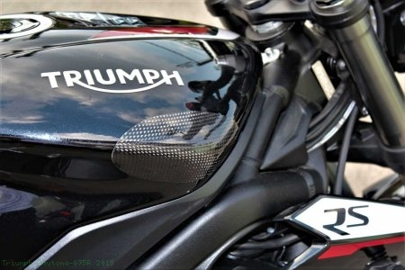 Carbon Fiber Street Version Tank Slider Kit by Strauss Carbon Triumph / Daytona 675R / 2015