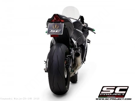 CR-T Exhaust by SC-Project Kawasaki / Ninja ZX-10R / 2018