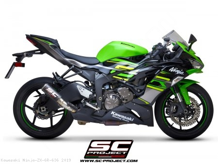 CR-T Exhaust by SC-Project Kawasaki / Ninja ZX-6R 636 / 2019