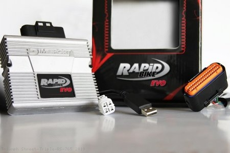Rapid Bike EVO Auto Tuning Fuel Management Tuning Module Triumph / Street Triple RS 765 / 2019
