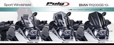 Z-Racing Wind Screen by PUIG BMW / R1200GS / 2018