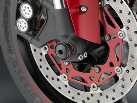 """SPORT R"" Front Wheel Axle Sliders by Rizoma"