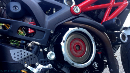 Wet Clutch Clear Cover Oil Bath by Ducabike Ducati / Monster 1200 / 2014