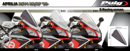 Z-RACING Windscreen by PUIG Aprilia / RSV4 RR / 2019