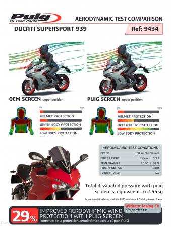 Touring Windscreen by Puig Ducati / Supersport / 2018