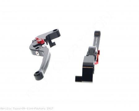 Standard Length Folding Brake And Clutch Lever Set by Evotech Aprilia / Tuono V4 1100 Factory / 2017